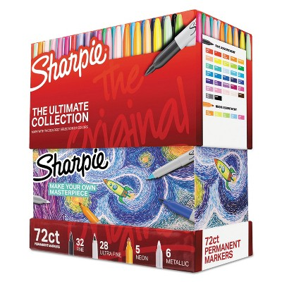 Sharpie Permanent Markers Ultimate Collection Fine; Ultra Fine Assorted 72/Set 1983254