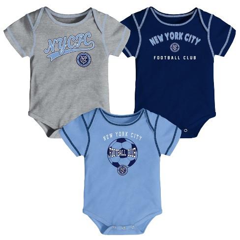 MLS Baby 3pk Onesies New York City FC - image 1 of 4
