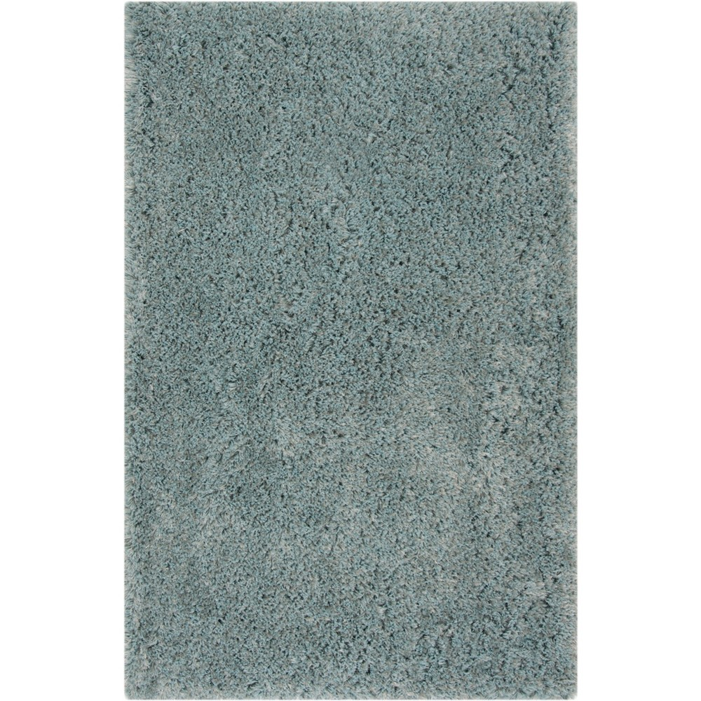 5'X8' Solid Tufted Area Rug Blue/Light Gray - Safavieh