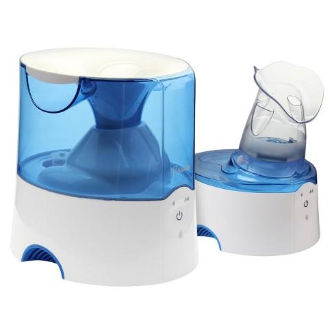 Crane 2-in-1 Warm Mist Steam Inhaler Humidifier 0.5gal - Blue & White - image 1 of 4