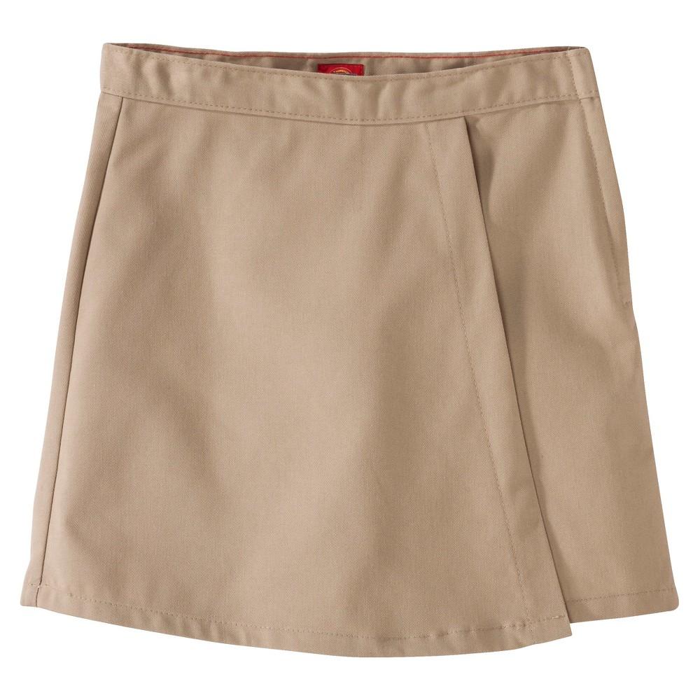 Image of Dickies Girls' Faux Wrap Skort - Khaki 10, Girl's, Green
