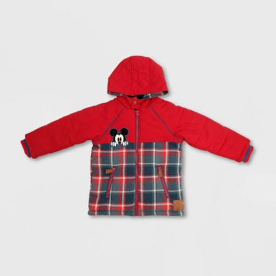 Boys' Disney Mickey Mouse & Friends Parka Jacket - Red/Blue - Disney Store