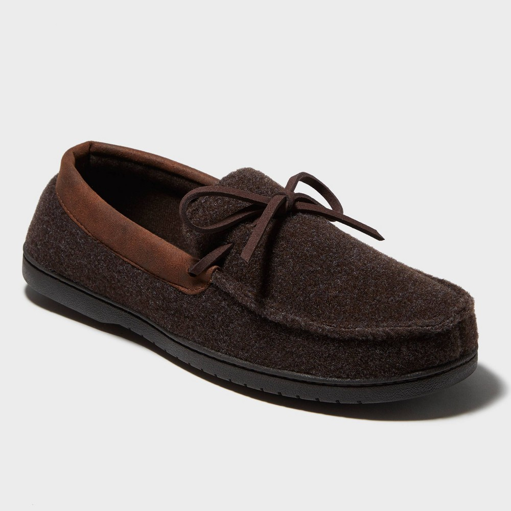 Image of Men's dluxe by dearfoams Jacoby Moccasin Slippers - Brown L(11-12), Size: Large (11-12)
