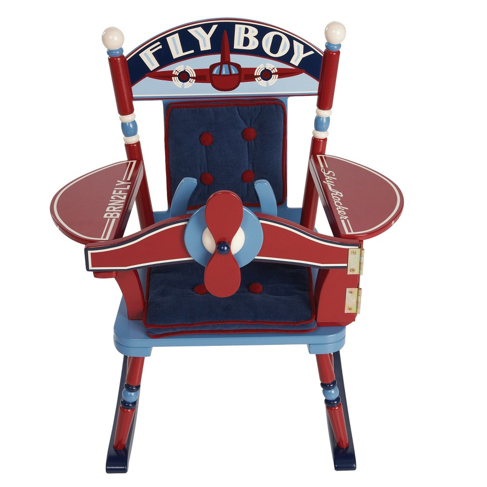 Fly Boy Airplane Rocker - Red - Levels Of Discovery