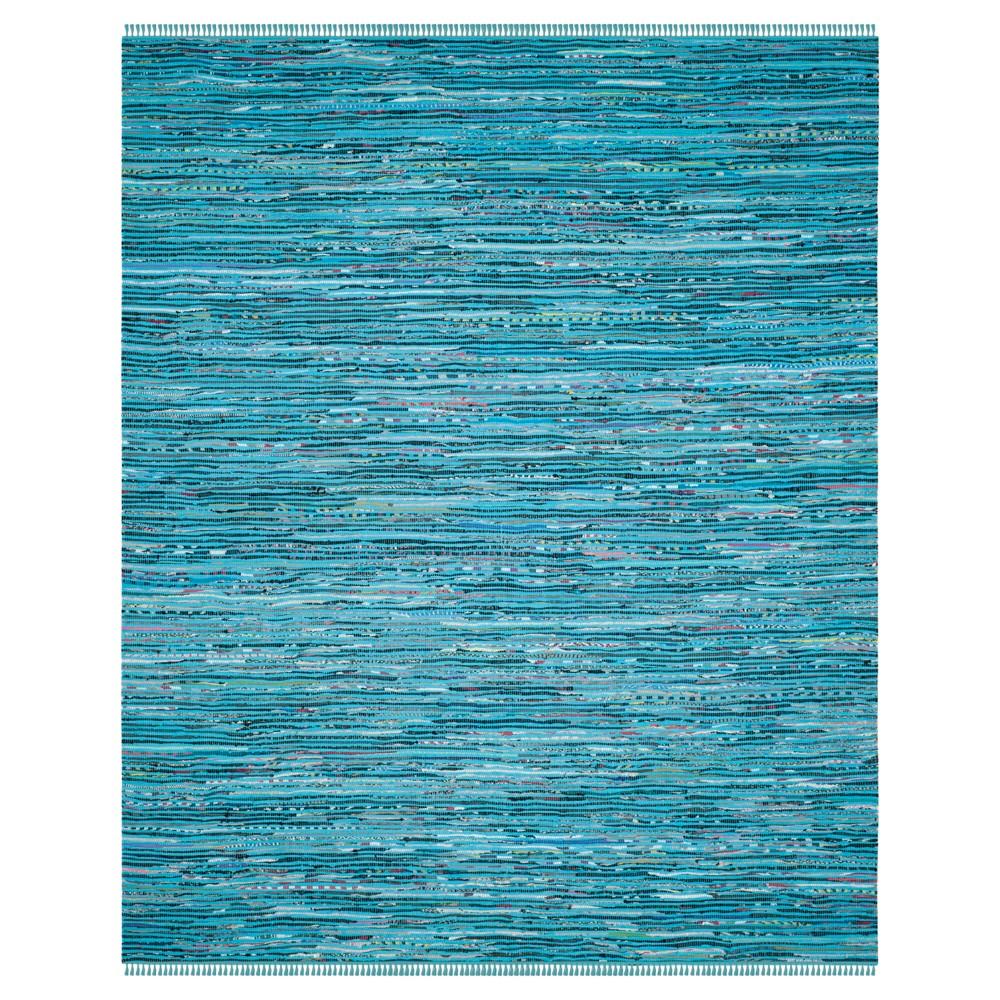 Ipswich Area Rug - Turquoise / Multi (8' X 10' ) - Safavieh