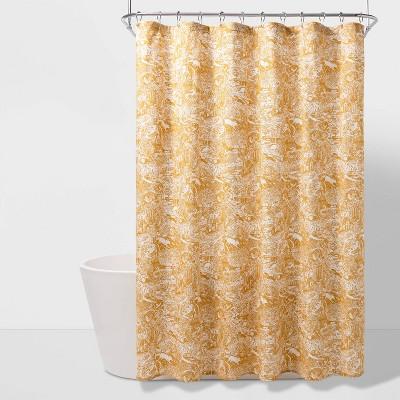 Scenic Printed Shower Curtain Yellow - Threshold™