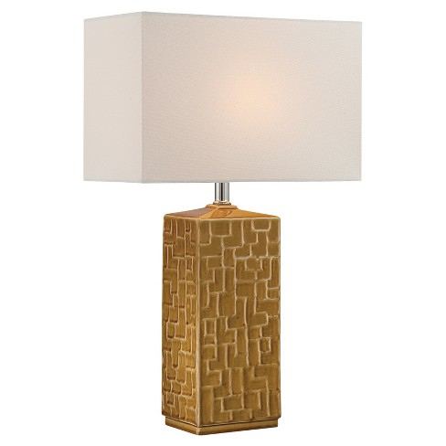 Monico Table Lamp Mustard (Includes Energy Efficient Light Bulb) - Lite Source - image 1 of 3