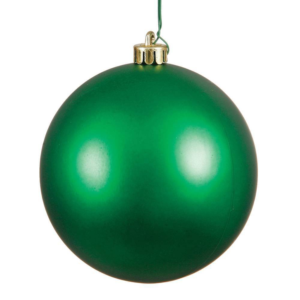 Vickerman 4.75/4ct Green Matte Ball Ornament UV Coated