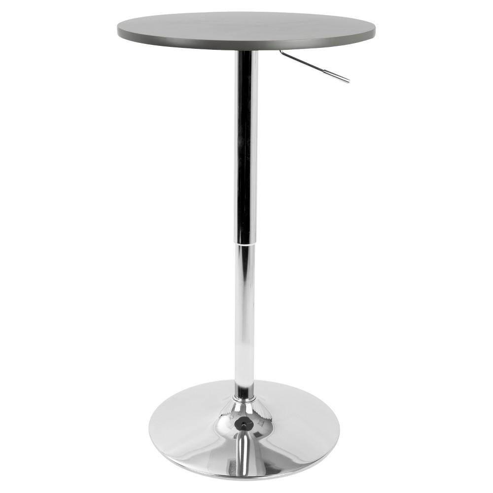Adjustable Contemporary Bar, Pub Table - Grey - Lumisource, Gray