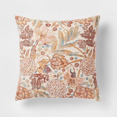 Floral Printed Square Throw Pillow - Threshold™
