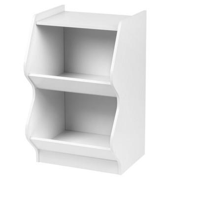 IRIS 2 Tier Curved Edge Storage Shelf White