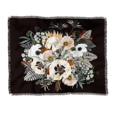 Iveta Abolina Elsa Woven Throw Blanket Black - Deny Designs