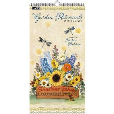 """2022 Vertical Wall Calendar 7.75""""x15.5"""" Garden Botanicals - Lang"""