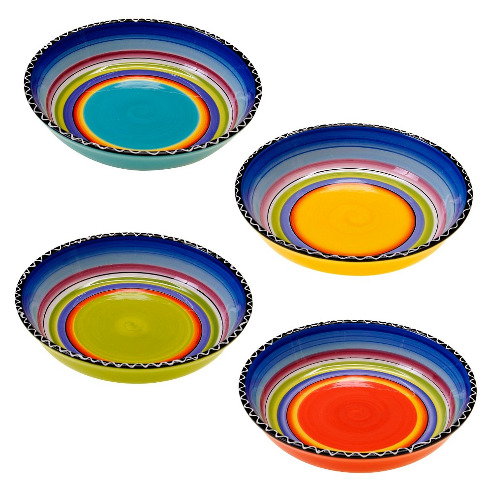 5 Piece Multicolored Certified International Corp 89232 Certified International Waiters Pasta Set