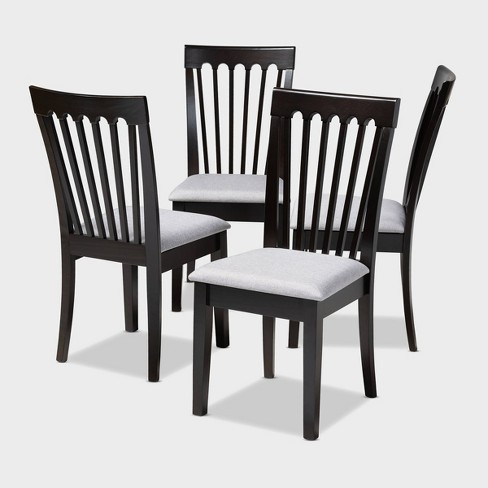 4pc Minette Finished Wood Dining Chairs - Baxton Studio - image 1 of 7