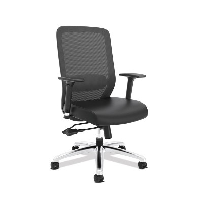 Exposure Mesh High Back Computer Chair with Leather Seat Black - HON