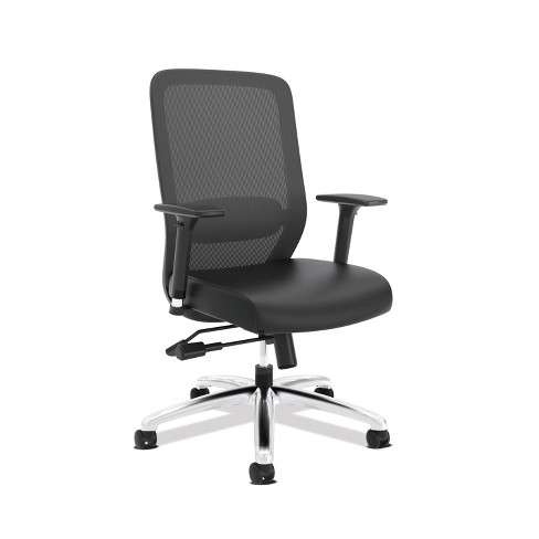 Exposure Mesh High Back Computer Chair With Leather Seat Black Hon Target