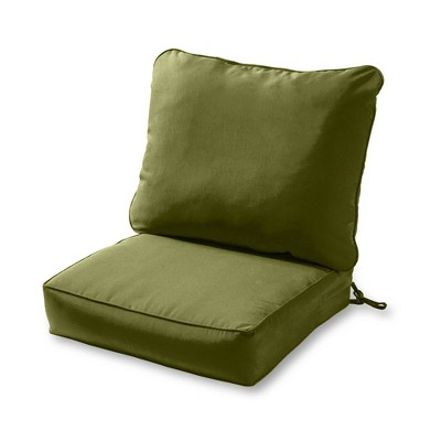 2pc Solid Outdoor Deep Seat Cushion Set - Kensington Garden