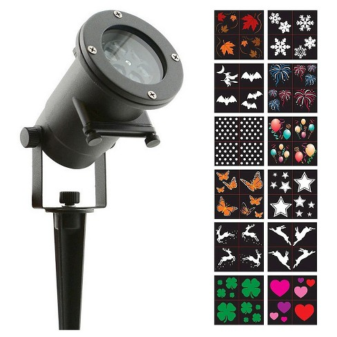 Holiday Charms LED lights 12 Interchangeable Slides - Night Stars - image 1 of 8