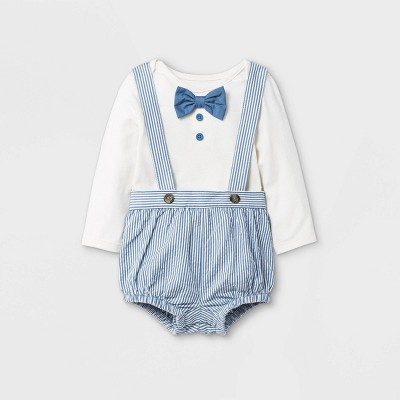 Baby Seersucker Bloomer Top & Bottom Set - Cat & Jack™ Cream