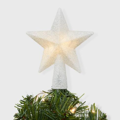 Christmas Tree Star.Mini Christmas Tree Topper Star Silver Wondershop