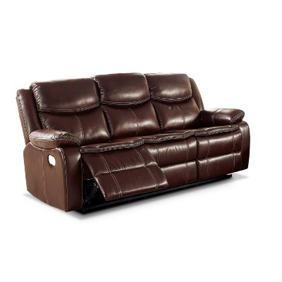 Prestwick Plush Armrests Sofa with 2 Recliner Brown - HOMES: Inside + Out