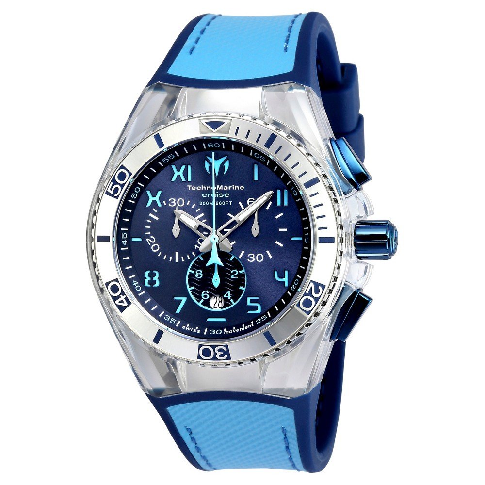 Men's Technomarine TM-115069 Cruise California Quartz Blue Dial Strap Watch - Blue