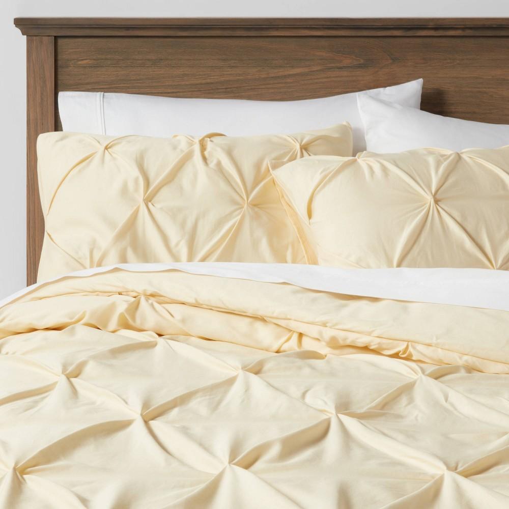 Twin Extra Long Pinch Pleat Comforter 38 Sham Set Yellow Threshold 8482