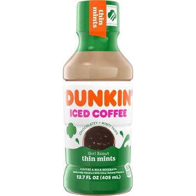 Dunkin Donuts Thin Mints Iced Coffee Beverage - 13.7 fl oz Bottle