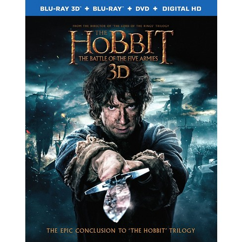 Hobbit: The Battle of the Five Armies [Includes Digital Copy] [UltraViolet] [3D/2D] [Blu-ray/DVD] - image 1 of 1