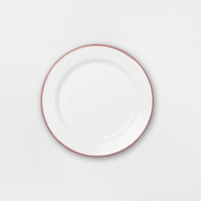 Enamel Dusty Rose Rim Salad Plate - Hearth & Hand™ with Magnolia