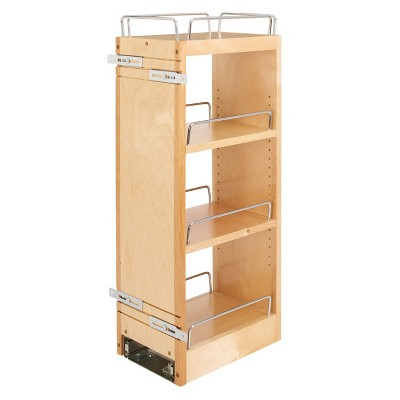 Rev-A-Shelf 448-BBSCWC-8C 8 Inch Pullout Soft Close Kitchen Cabinet Storage Organizer, Wood Construction with Extra Durability