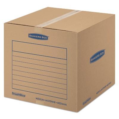 Bankers Box SmoothMove Basic Medium Moving Boxes 18l x 18w x 16h Kraft/Blue 20/BD 7713901