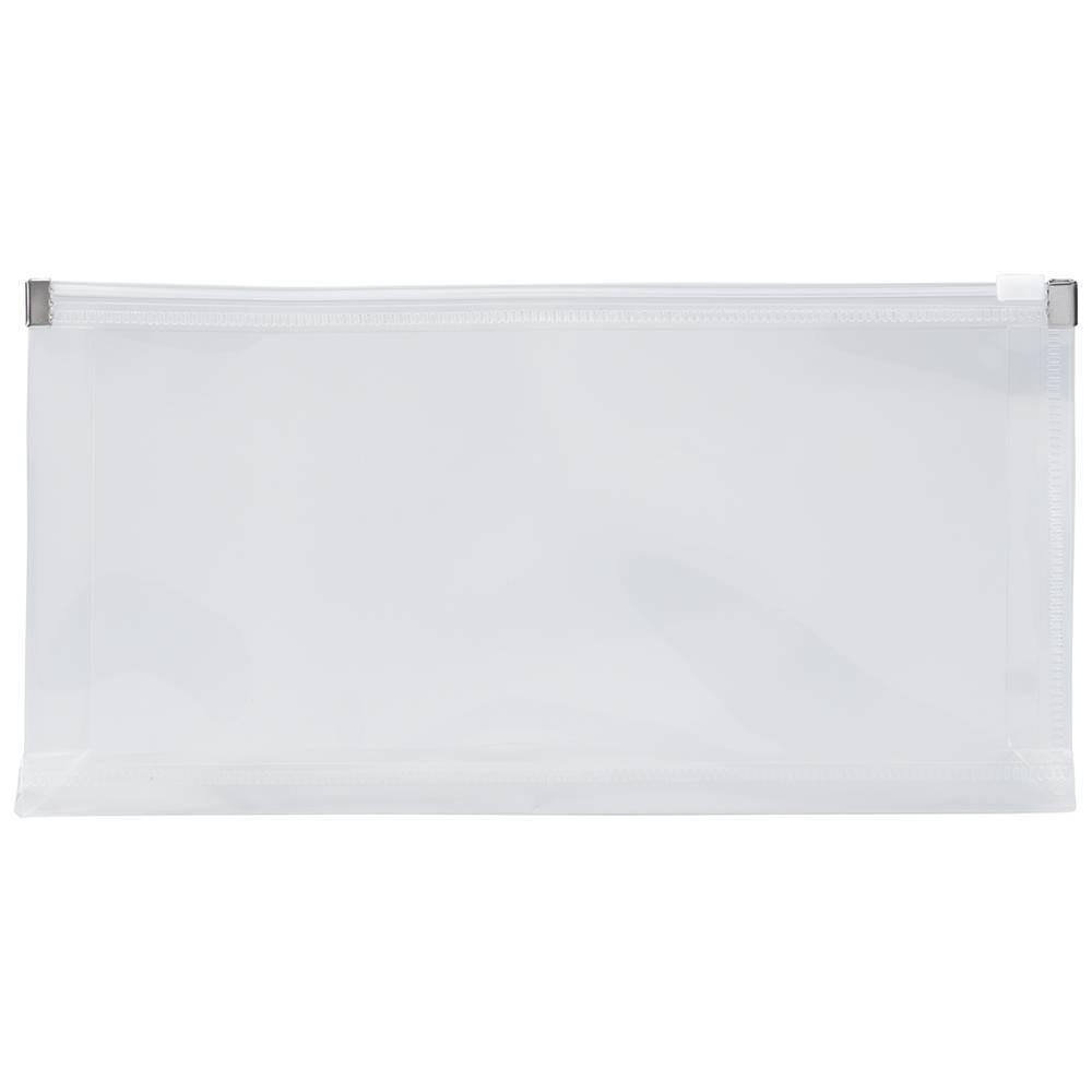 Jam Paper 5 X 10 12pk Plastic Envelopes With Zip Closure Clear