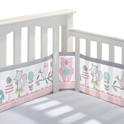 BreathableBaby® Mesh Crib Liner - Girl Forest