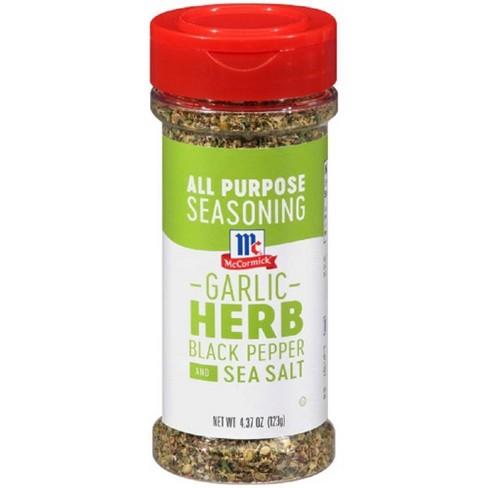 McCormick Cracked Black Pepper, Garlic, Herb, Sea Salt All Purpose Seasoning - 4.37oz - image 1 of 4