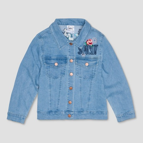 Girls Spirit Riding Free Graphic Denim Jacket Target