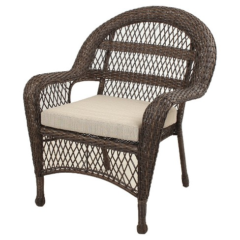 Sheridan Wicker Stacking Patio Club Chair Brown Threshold All