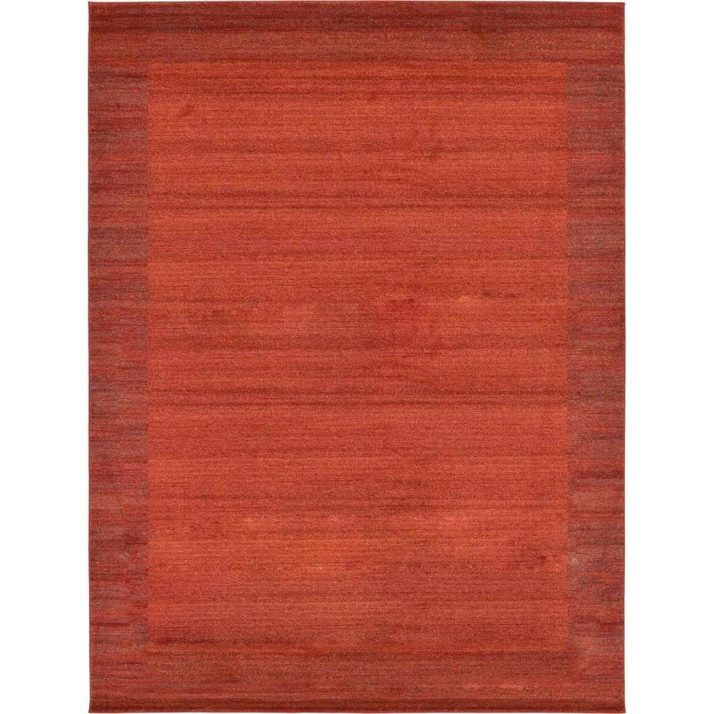 9 39 X12 39 Abigail Del Mar Rug Terracotta Red Unique Loom