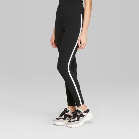 3c51c16ab662a Women's Side Striped Leggings - Wild Fable™ Black : Target