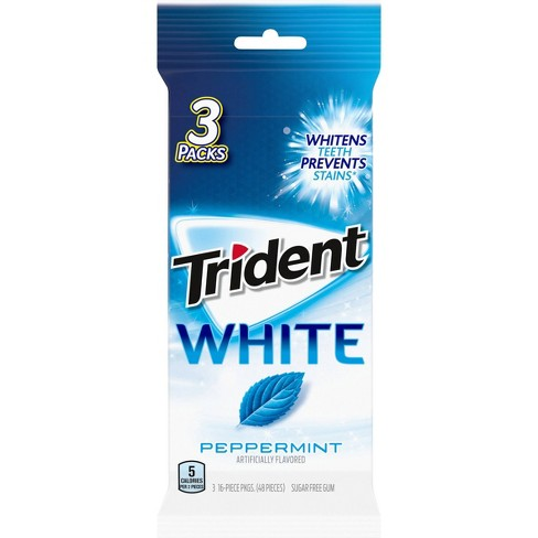 Trident White Peppermint Sugar-Free Gum - 48ct - image 1 of 8