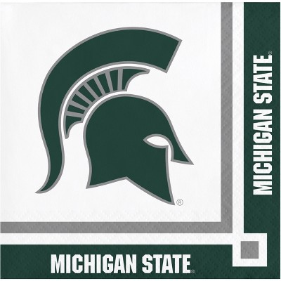 20ct Michigan State Spartans University Cocktail Beverage Napkins - NCAA
