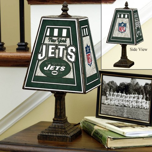 NFL New York Jets 14in Art Glass Table Lamp - image 1 of 1