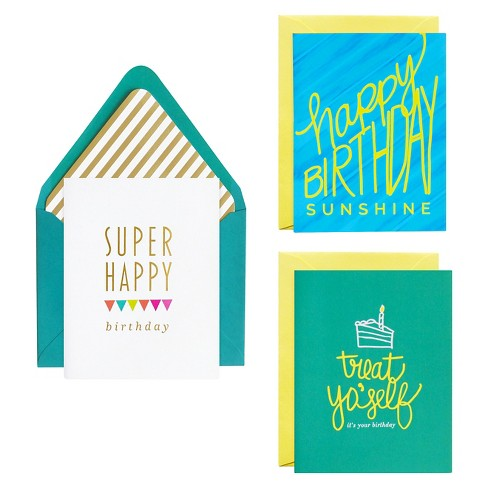 Meant To Be Sent Birthday Notecards 3 Ct Target
