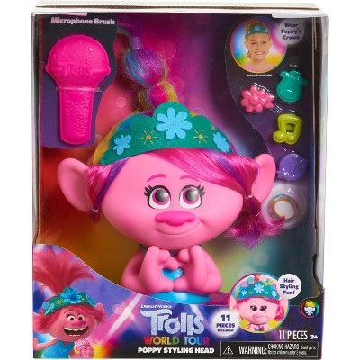 Trolls World Tour Poppy Styling Head