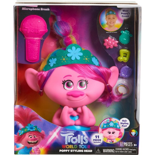 Trolls World Tour Poppy Styling Head image number null
