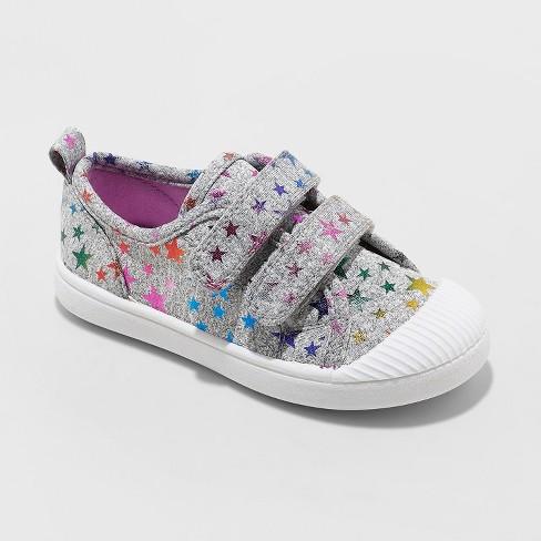 6 7  NEW Cat /& Jack Girls Toddlers Slip On Purple Glitter Sneakers Size 5