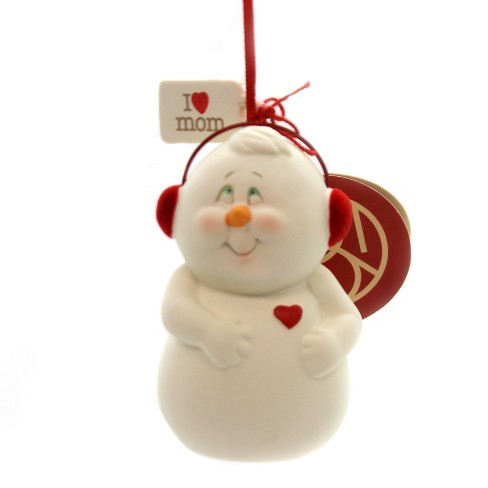 """Holiday Ornaments 3.25"""" I Heart Mom Snowpinion Department 56 - image 1 of 2"""