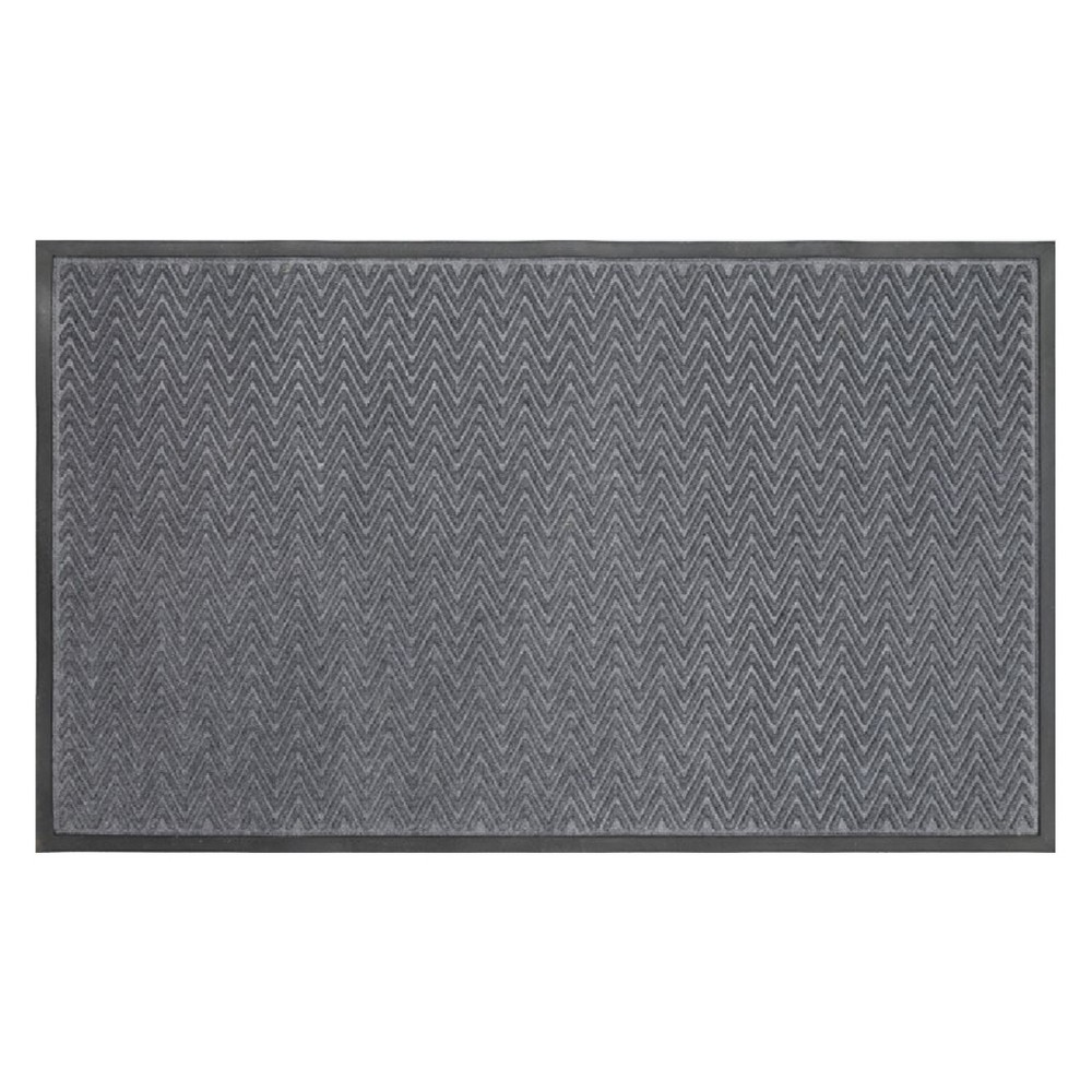 Image of 3'X5' Gateway Utility Doormat Charcoal - Mohawk, Gray