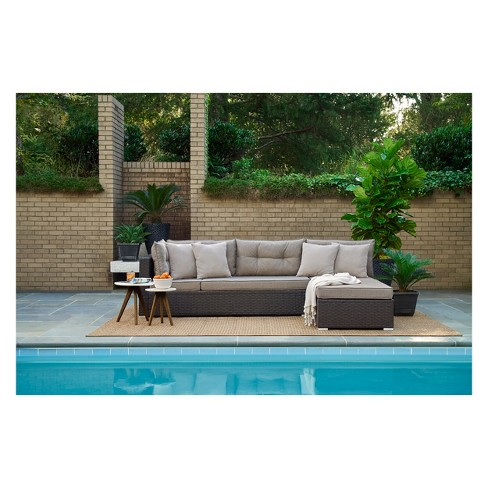 Relax A Lounger Pacifica Outdoor Convertible Sofa Lifestyle Solutions Target